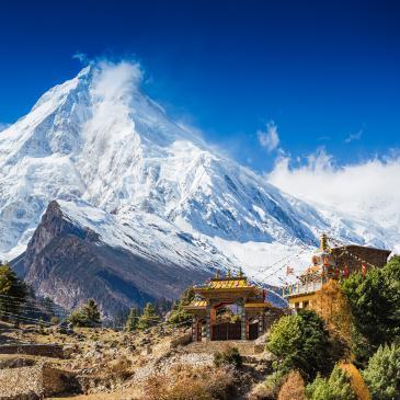 Flight to Nepal